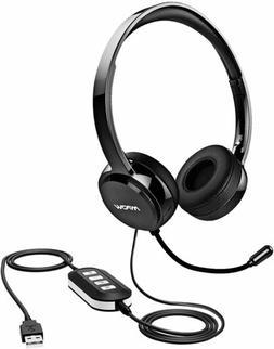 Mpow 071 USB Headset/3.5mm Computer Headset Mic Noise Cancel
