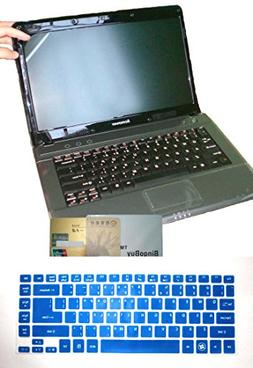 2-in-1 US Layout Keyboard Skin Cover + 14'' anti glare Scree