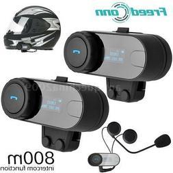 2× Freedconn TCOM-SC Bluetooth Motorcycle Helmet FM Interco