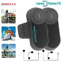 2x Freedconn TCOM-02 BT Bluetooth Motorcycle Helmet Headset