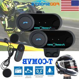 2Pcs FDC T-COMVB BT Motorcycle Helmet Interphone Bluetooth H