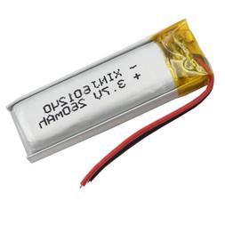 3.7v 260 mAh Polymer Li battery pack 601240 for bluetooth he