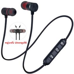 5 0 bluetooth earphone sports neckband magnetic
