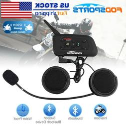 6Riders Bluetooth Intercom Communicator Kit Motorcycle Inter