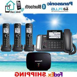 Panasonic KX-TG9582B Link2Cell DECT_6.0 2-Handset 2-Line Dig