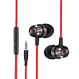 AutumnFall Headset,3.5mm in-Ear Supper Bass Metal Earbuds Ea