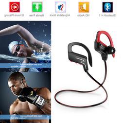 Bluetooth 4.1 Wireless Headset Headphone Sport Gym For iPhon