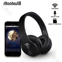 Bluetooth 5.0 Headphones Wireless Over-Ear Earphone 3D Stere