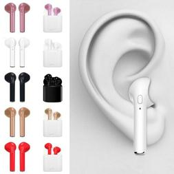 Bluetooth 4.2 Wireless Headset i7 TWS Earbuds Twins In Ear E