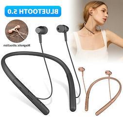 Bluetooth 5.0 Headphone Wireless Sport Neckband Headset Ster