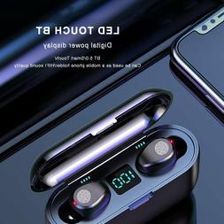 Bluetooth 5.0 Headset TWS Wireless Earphones Twins Earbuds S