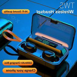 Bluetooth 5.0 TWS Wireless Earphones Twin Earbuds Stereo Hea