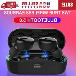 Bluetooth 5.0 TWS Wireless Twins Stereo Earbuds Earphones He