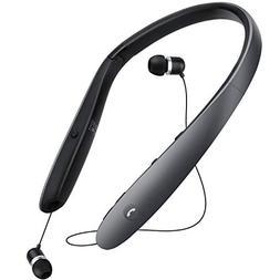 Bluetooth Headphones,Retractable Earbuds Neckband Foldable,N