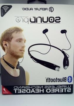 Replay Audio Bluetooth Headphones Neckband Headset Sound Pro