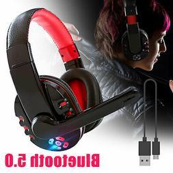 Bluetooth Headphones Over Ear Wireless Mic Stereo Comfort We