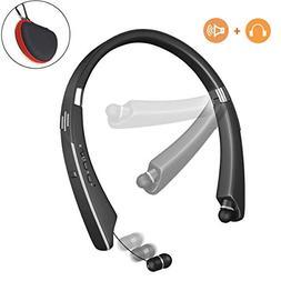 Bluetooth Headphones Speaker, Lukasa Wireless Neckband Heads