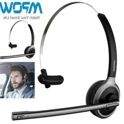 Mpow Bluetooth Headset Mic Handsfree Headphone Trucker Drive