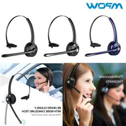 Mpow Bluetooth Headset Over Head Earpiece For Office Car Pho