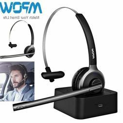 Mpow Bluetooth Headset Truck Driver Earphone Wireless Noise
