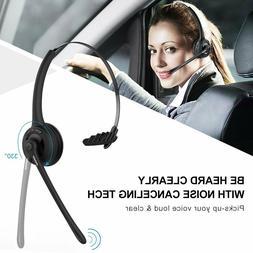 Bluetooth Headset Trucker Telephone Operator Headphones Over