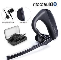 Bluetooth Headset Wireless Headphone Earpiece, Hands Free wi