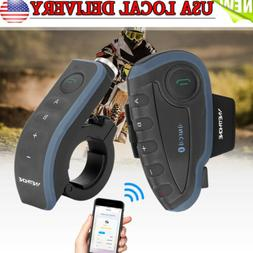Bluetooth Motorcycle Rider Helmet Headset Intercom w/ RC Spe