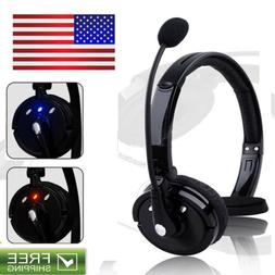Bluetooth Noise-Canceling Headset Over The Head W/Mic For Tr