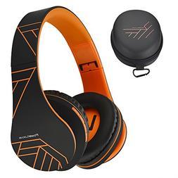 PowerLocus Bluetooth Over-Ear Headphones, Wireless Stereo Fo
