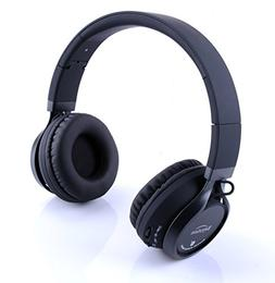 Beyution Black Metal Wireless Bluetooth Headsets Over Ear Bl