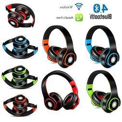 Bluetooth Wireless Headset Headphone Earphone Foldable Ear P