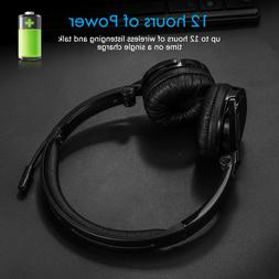 Wireless Headset Stereo Headphone for PC Gaming Music Laptop