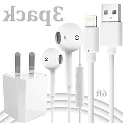 Charging Kit Includes 6FT Long Data Sync Cord with USB Wall