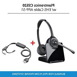 Plantronics CS520 Binaural Wireless Headset System with EHS