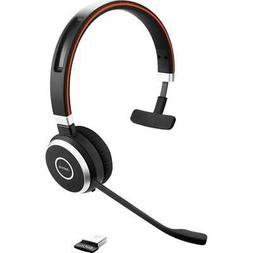 Jabra Evolve 65 UC Mono Bluetooth Headset with USB Adapter #