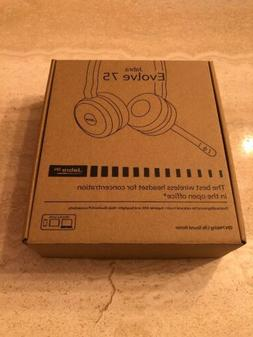 Jabra Evolve 75 UC Stereo Wireless Bluetooth Headset / Music