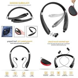 Foldable Bluetooth Headset, Beartwo Lightweight Retractable