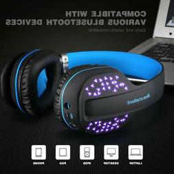 Gaming Headset With Mic LED light Bluetooth Wireless Stereo