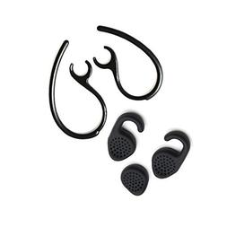 New 3pcs Gel Ear bud earbuds tip + 2pcs ear hook loop earhoo