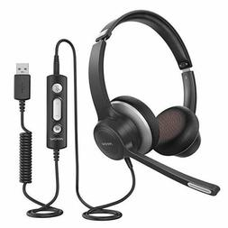 Mpow HC6 USB Call Center Headset 3.5mm Jack Office Computer