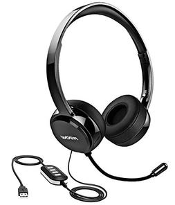 Mpow PC Headset, 3.5mm/USB Headset Noise Cancelling Mic, Ste