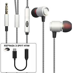 Hi-Fi Sound Hands-free Headset with Mic Earphones TYPE-C Aud