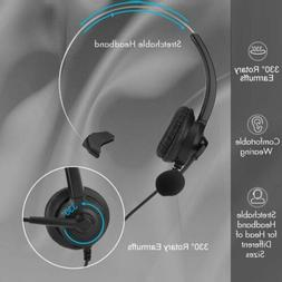 Hot Noise Cancelling Microphone Headset Call Centre Office T