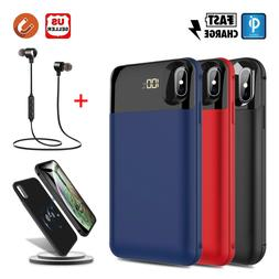 For iPhone X/XR/XS Max Qi Wireless Battery Case Charger Cove