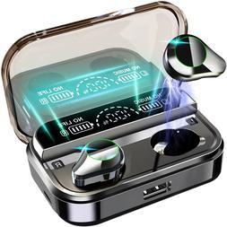 True Wireless Earbuds Bluetooth 5.0 Waterproof Headset Headp