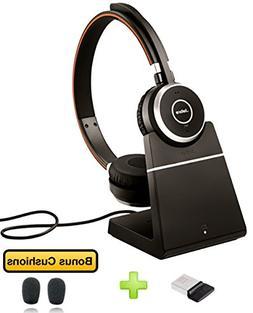 Jabra Evolve 65 Bluetooth Duo UC Wireless Headphone Bundle  