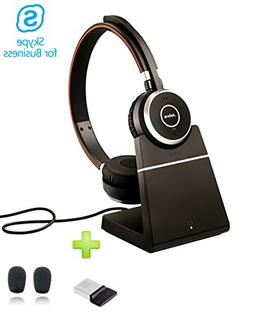 jabra evolve 65 bluetooth stereo headset bundle