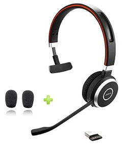 Jabra Evolve 65 Bluetooth UC Mono Headset Bundle   Bonus Mic