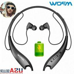 Mpow Jaws Bluetooth Headphones Neckband 18H HeadsetNoise Can