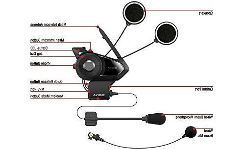 Sena 30K-01D Motorcycle Communication System with Intercom Dual Kit